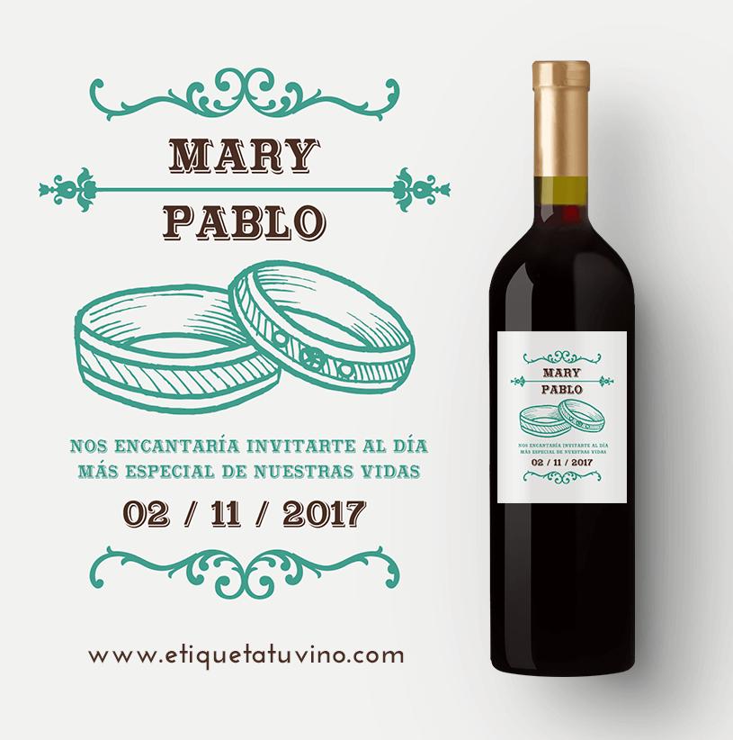 Vino Personalizado Como Invitación De Bodas Wine Bottle Bottle Ideas Para Fiestas