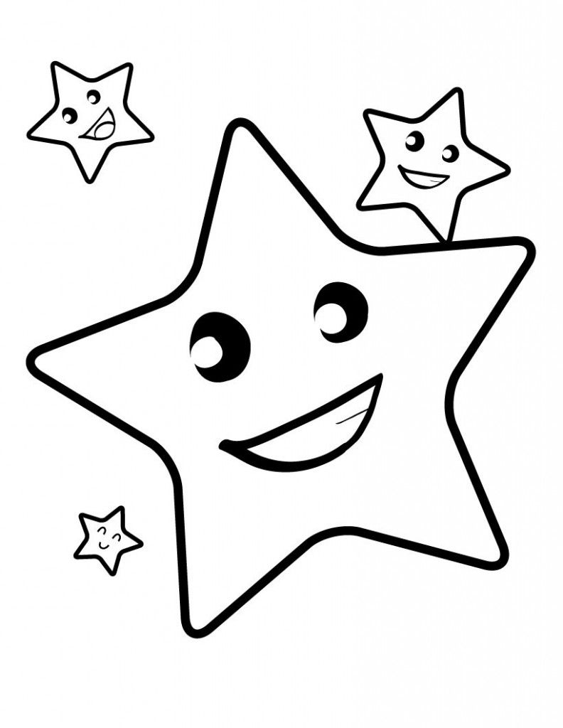 Free Printable Star Coloring Pages For Kids | Star coloring ...