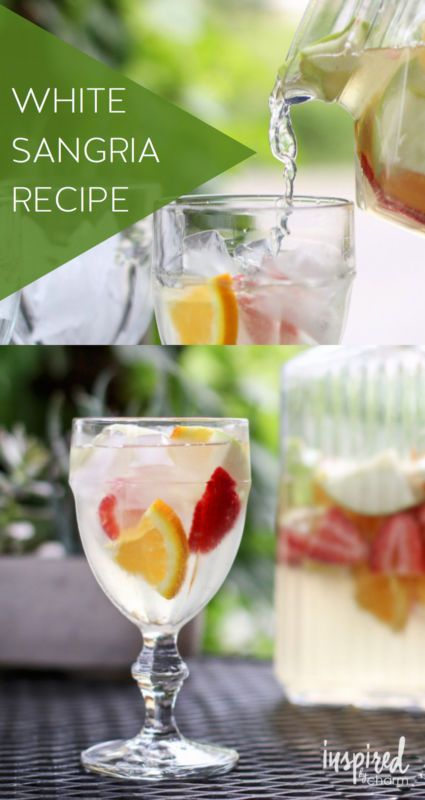 White-Sangria- | White sangria, Sangria recipes and Sangria