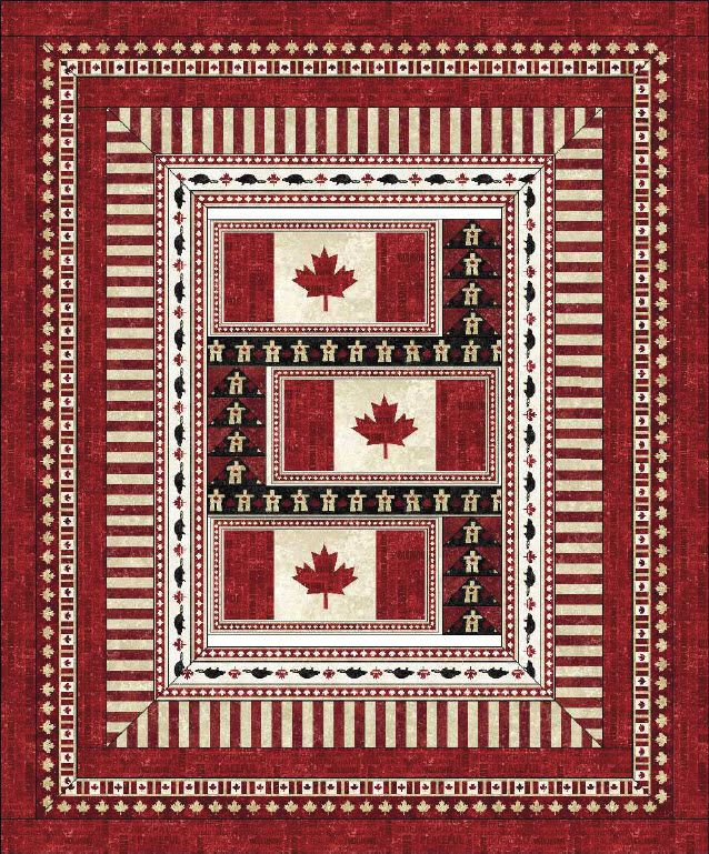 Stonehenge Oh Canada Free Quilt Pattern Quilts Canada Canadian