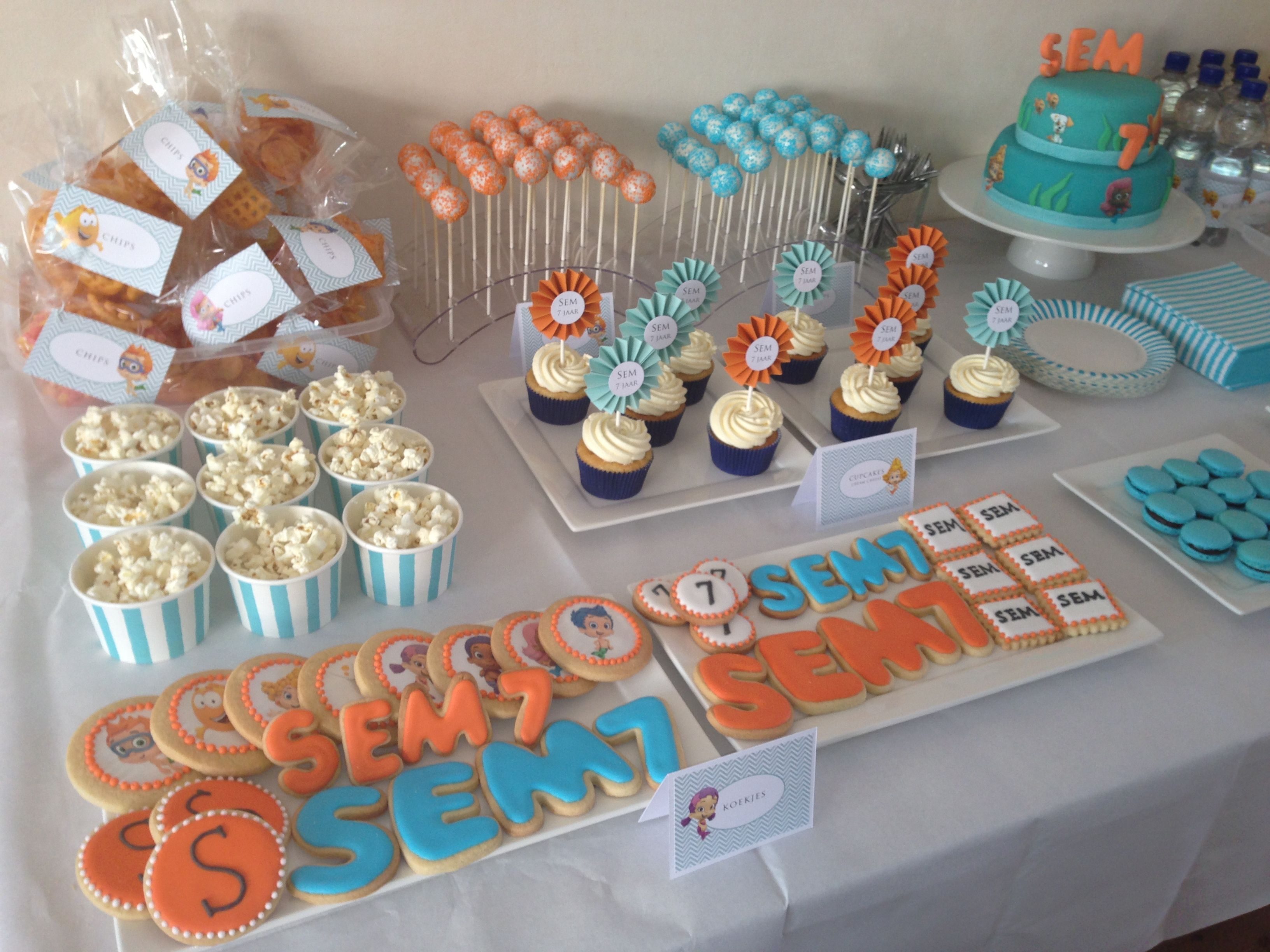 Birthday Party Ideas Bubble Guppies Sweet Table