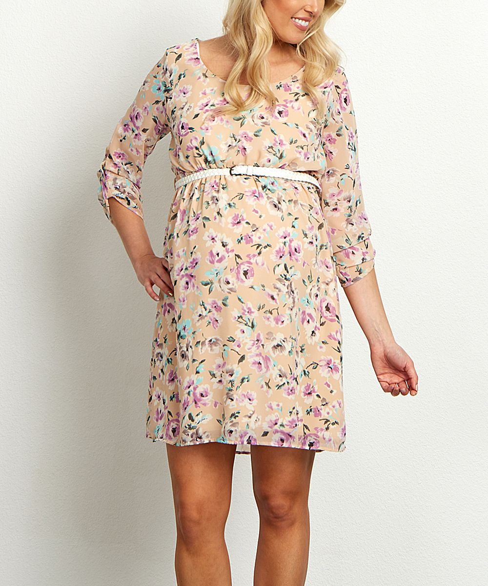 Pinkblush peach lavender floral belted maternity dress moms pinkblush peach lavender floral belted maternity dress ombrellifo Image collections
