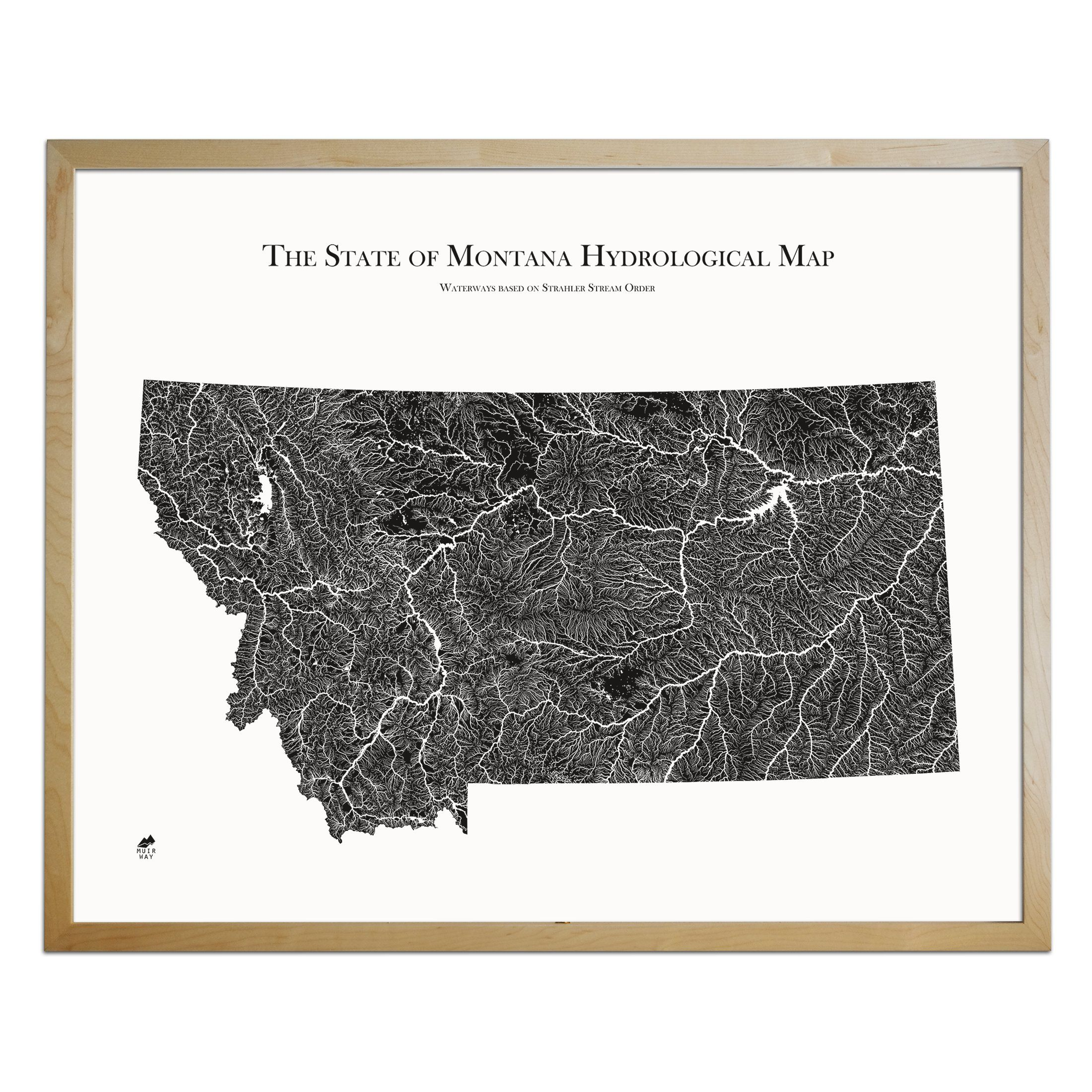 Montana Hydrological Map in 2018 | Gifts | Montana, Gifts, Map