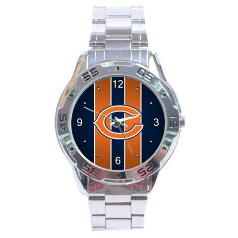 Chicago Bears Graphic Logo Stainless Steel Analogue Men's Watch by Auto. $15.50. This great looking men's watch is designed for those who like the convenience of formal and casual use all rolled into one. Its cosmopolitan style gives it fashionable and durable look along with its shiny stainless steel wristband.   Shipping Information :      *Item will be shipped within 3 days after recieved payment.        *Item will be shipped from Hong Kong. Shipping takes about 8-21 business ...
