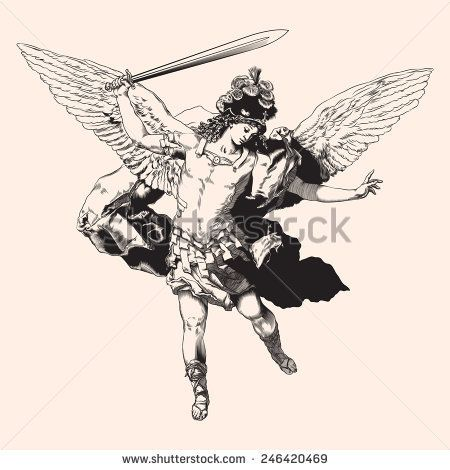 Archangel Michael Vector Illustration