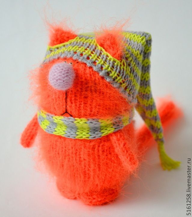 вязаные крючком игрушки коты и кошки схемы: 52 тис ...
