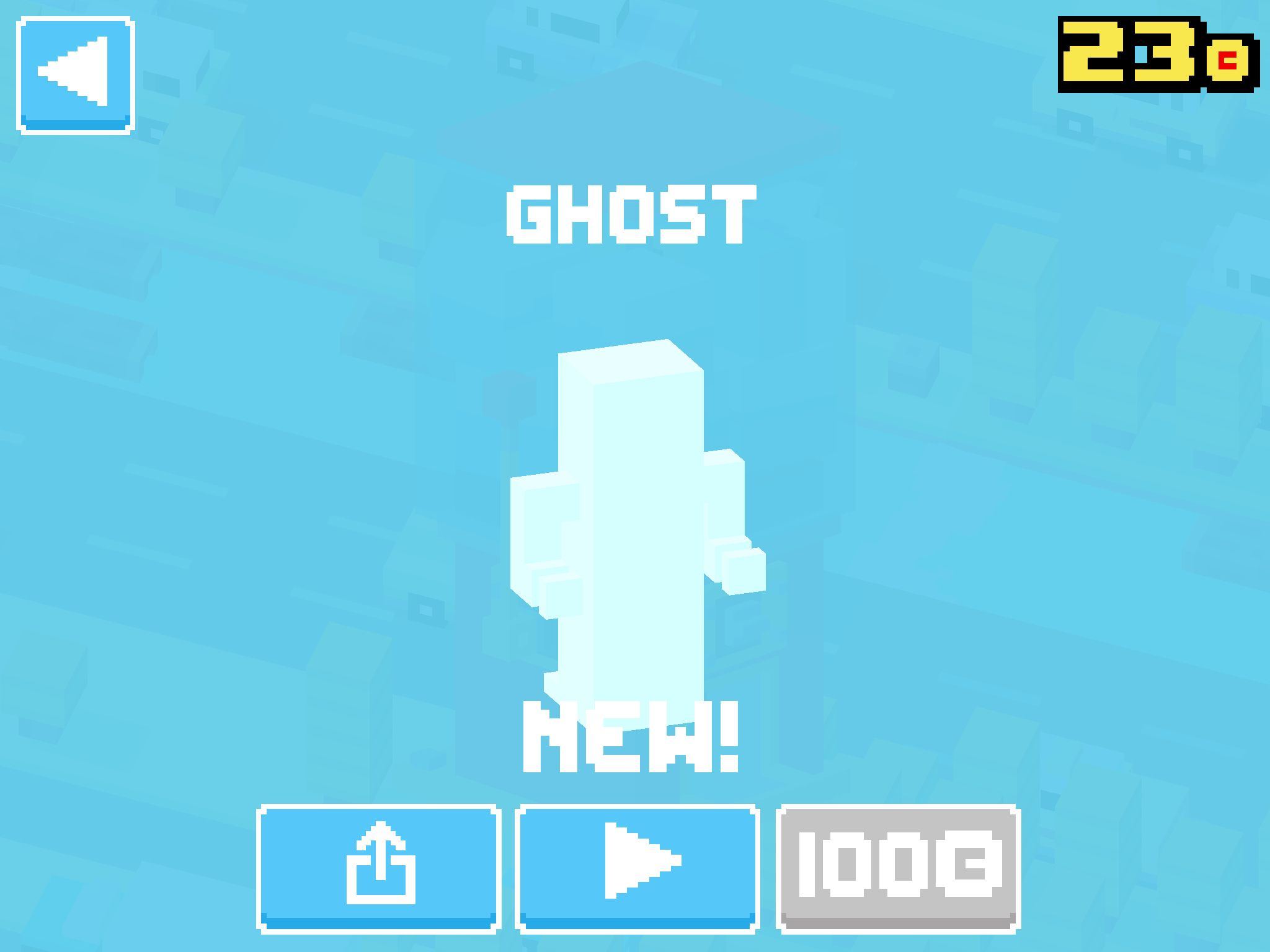 Just unlocked Ghost! #crossyroad