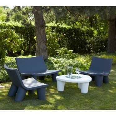 Slide Grand Salon De Jardin Design Ensemble Table Chaise Et