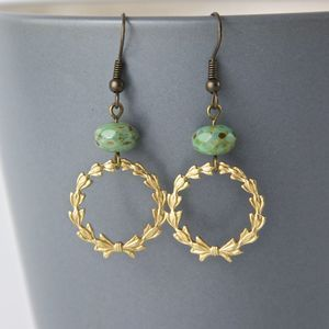 Vintage Filigree Ring And Turquoise Earrings