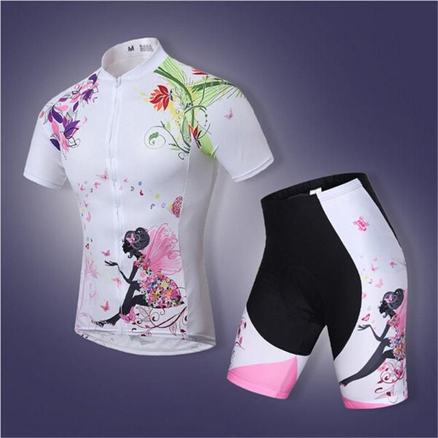 2017 Women Pro Cycling Jerseys Summer Cycling Clothing / Breathable Bike  Cycling Pad Road Gel Clothes
