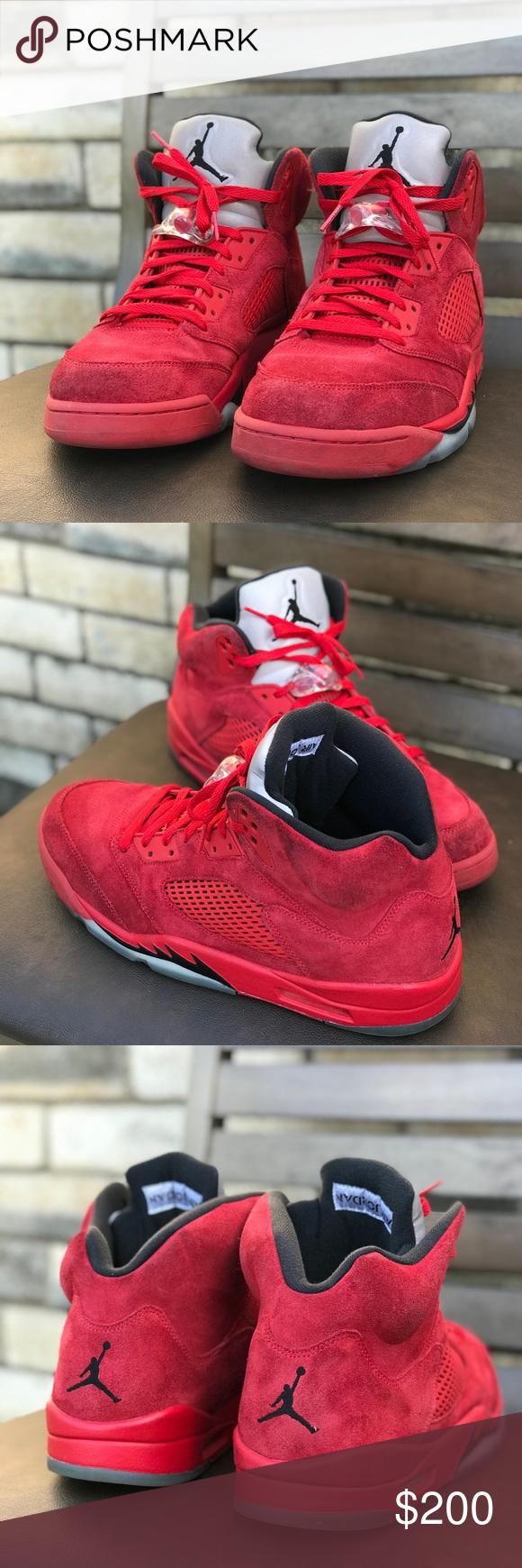 Air Jordan 5 Retro 'Red Suede' Air Jordan 136027 602 | GOAT