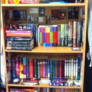 Check out my bookshelf. It's covered with bookish swag.
