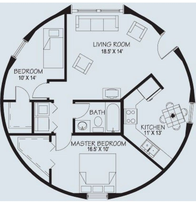 Small round house floor plans escortsea for Round home plans
