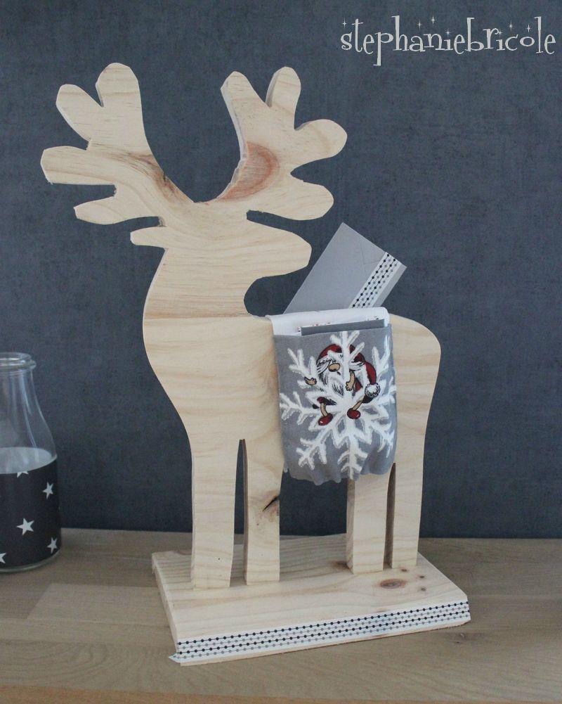 DIY calendrier Avent  un renne en bois chargé de messages