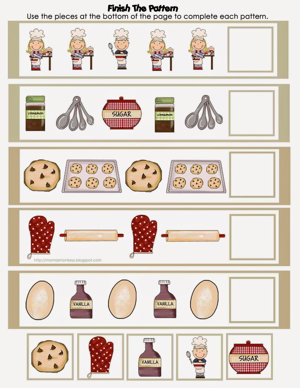 Our Little Monkeys Little Bakers Preschool Pack