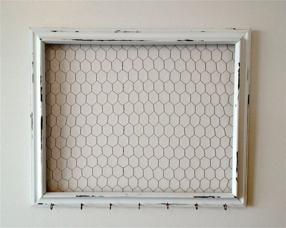 Extra Large Shabby Chic Chicken Wire Frame, Hair Bow Holder, Hair ...