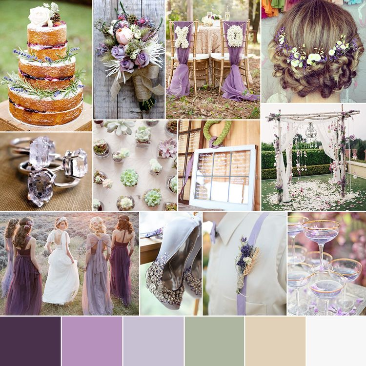 Lavender Chic Wedding Color Palette Rustic wedding colors