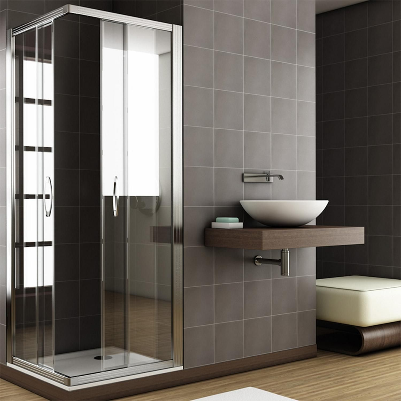 Box doccia in vetro/cristallo trasparente/opaco da 6 mm