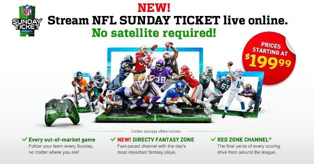 NFL Sunday Ticket Will Be Available to Fans Without a