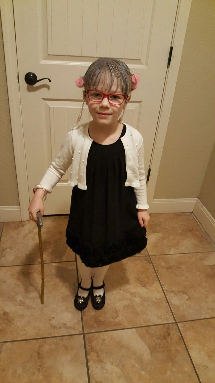 100th day of school 100 year old lady costume for kids