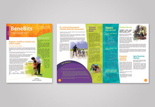 Employee Wellness Program Collateral Rebranding by Kristin – Employee Newsletter Template