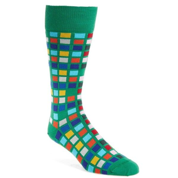 Men's Paul Smith Multi Tile Socks ($30) ❤ liked on Polyvore featuring men's fashion, men's clothing, men's socks, green, mens green socks, mens socks and paul smith mens socks