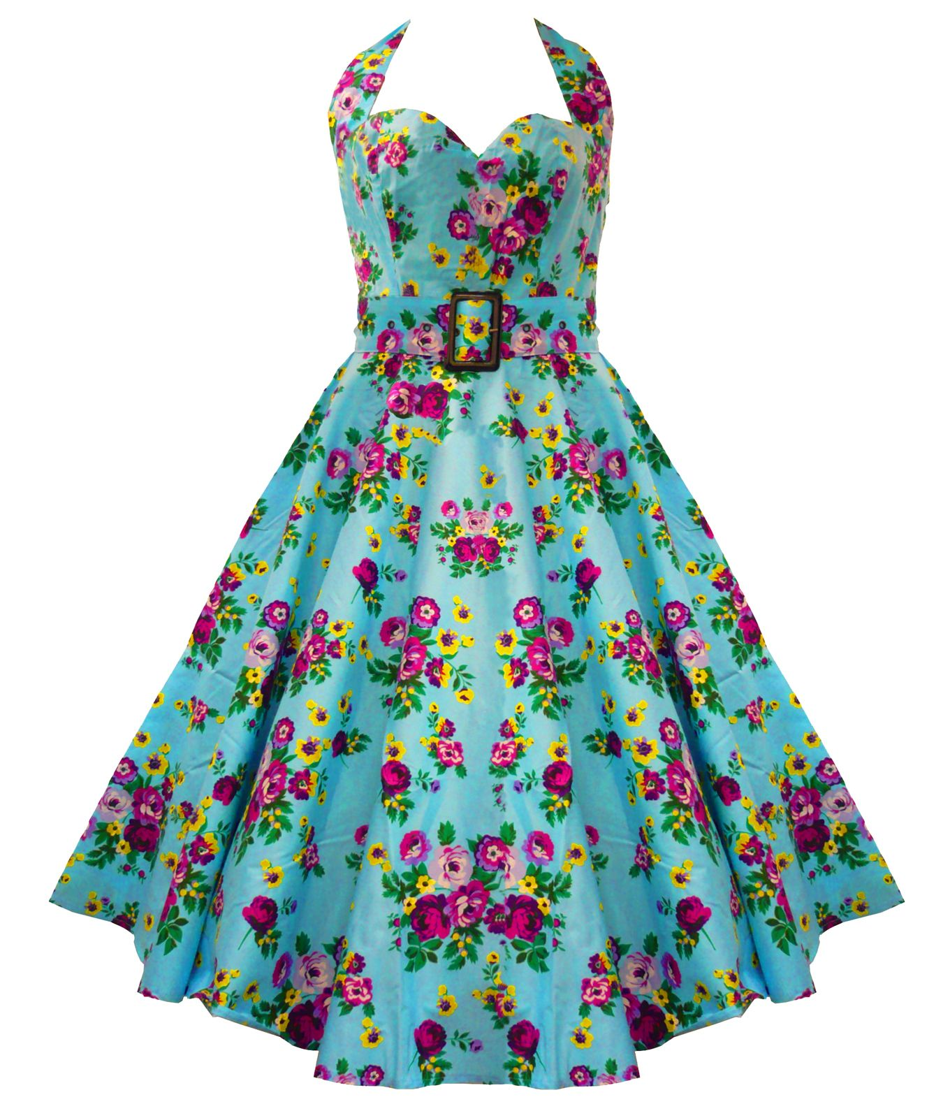 Hell Bunny 50\'S May Day Floral Dress Turquoise | Xoxo | Pinterest ...