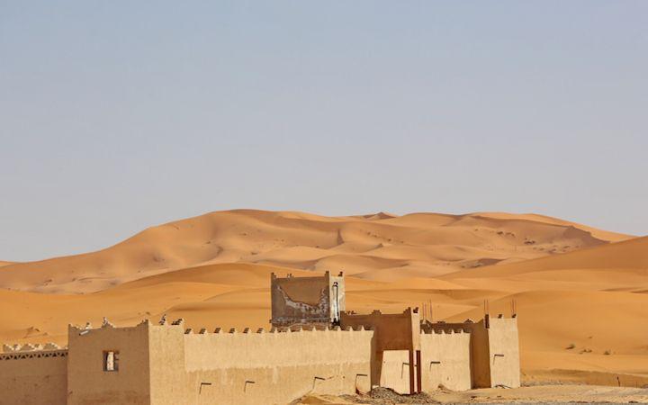Kasbah nel deserto del Merzouga