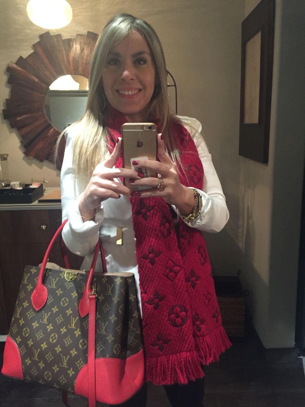 2e908e252cdc LV Red combination with Louis Vuitton Flandrin Handbag