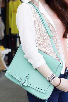 Ribbon Tasle Clutch -  ohmyprecious.com, Korean fashion