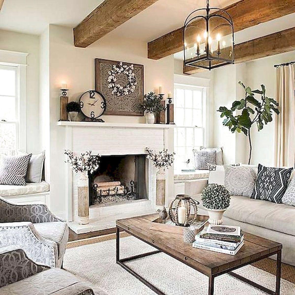 Best 100 Best Farmhouse Living Room Decor Ideas Modern 400 x 300