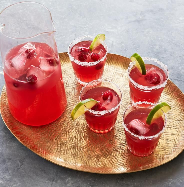 Spicy Cranberry Margaritas #friendsgivingfood