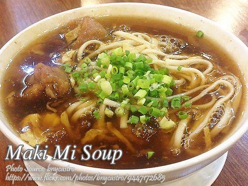 How To Cook Authentic Maki Mi Soup Recipe Soup Recipes Filipino Soup Recipes Food Recipes