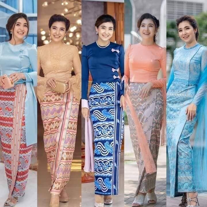 Pin By Shyla On Myanmar Traditional Dress