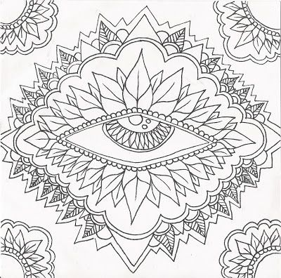 Mandala Madness This Eye Mandala Begs For Color Mandala Coloring - new coloring pages for eye doctor