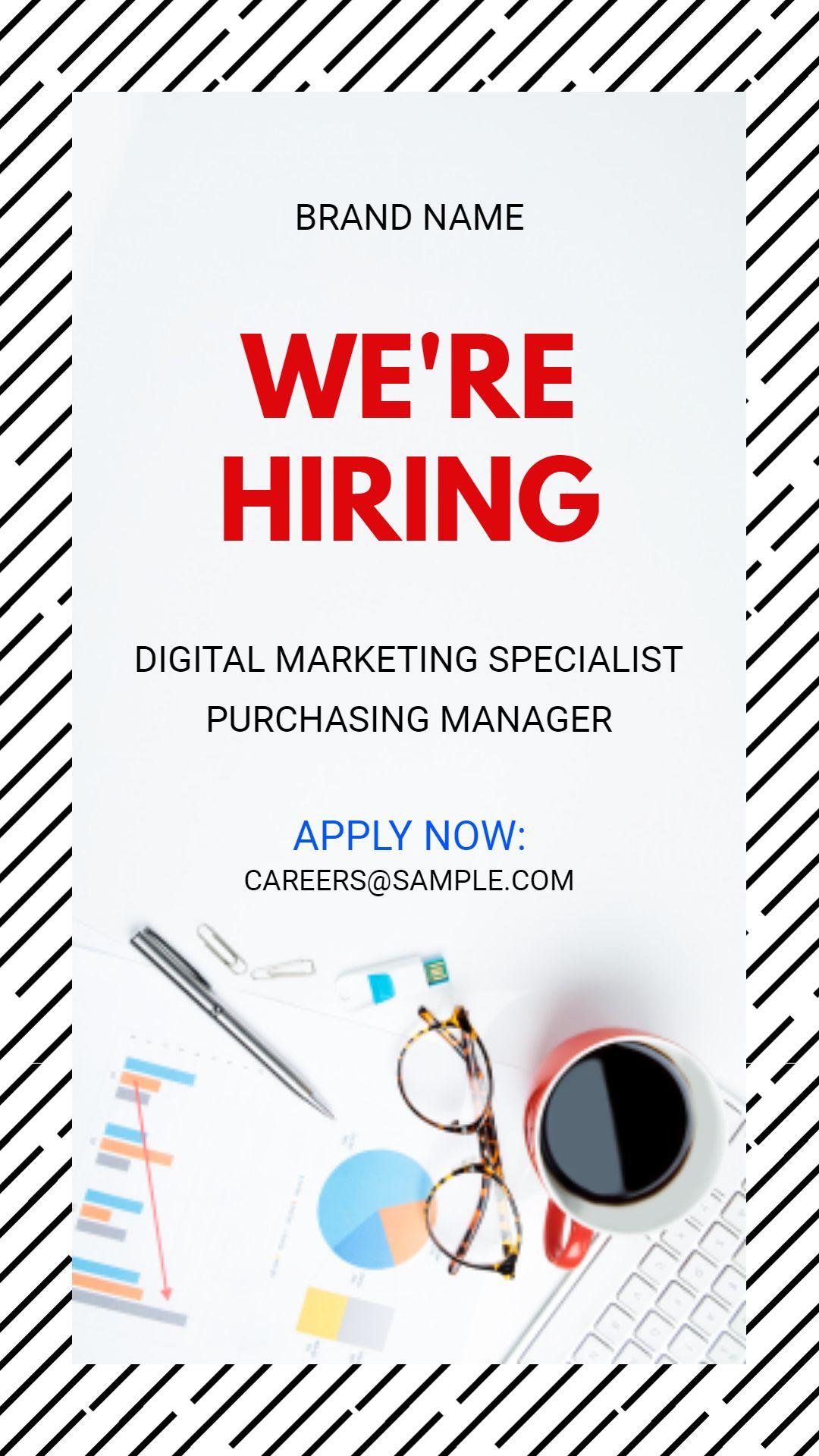 Brand Job Vacancy Instagram Story Ad Template Instagram Story
