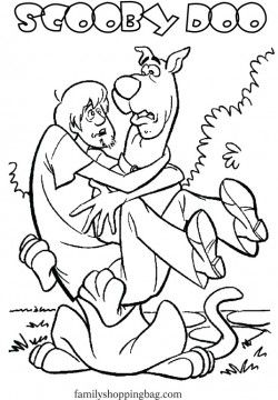 scooby and shaggy coloring pages