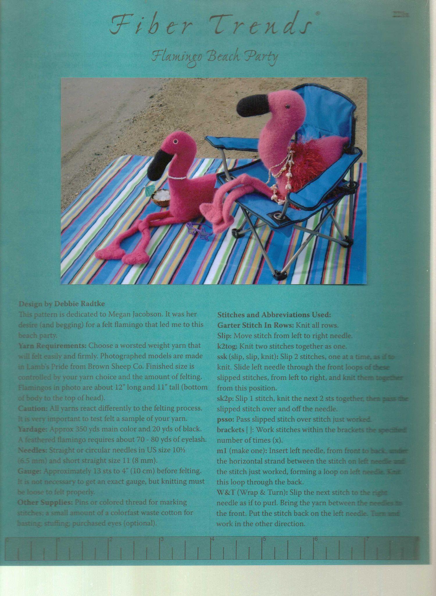 Fiber trends knitting pattern flamingo beach party flamingo beach fiber trends knitting pattern flamingo beach party dt1010fo