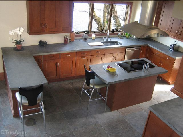 Lovely Counters With Matching Floorscolor Scheme Is Beautiful Best Concrete Kitchen Countertops Decorating Inspiration