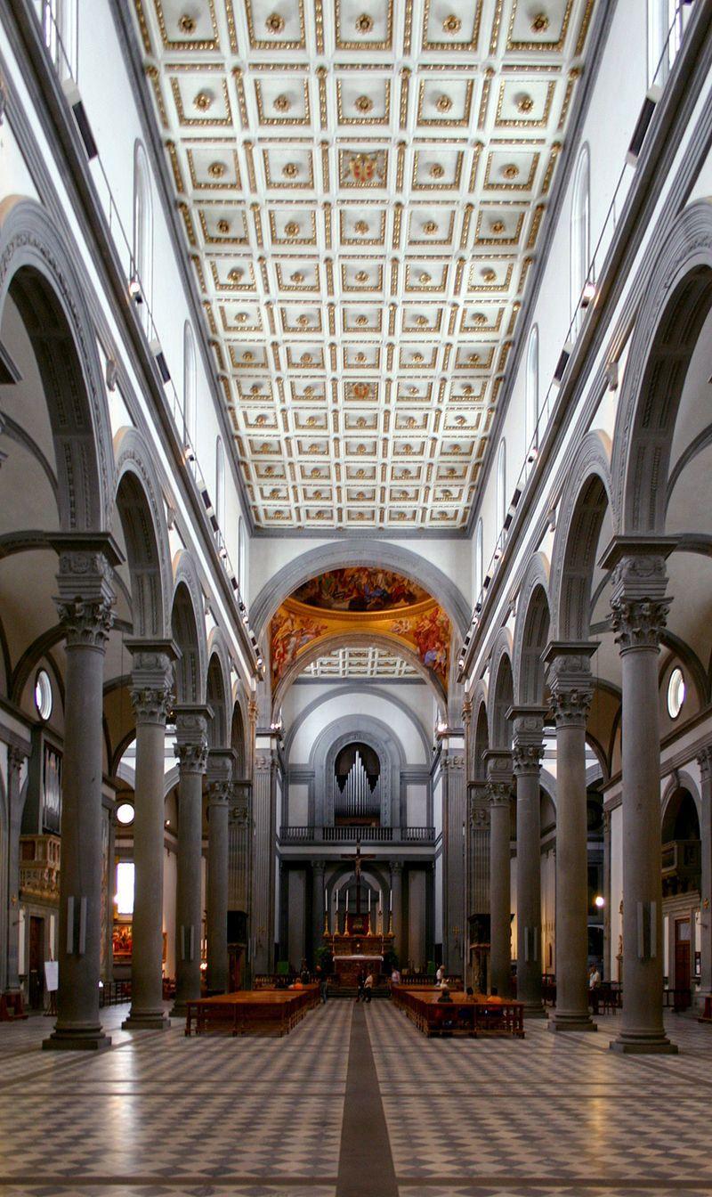 Einblick LH2 San Lorenzo Florenz - Architektur der Renaissance – Wikipedia