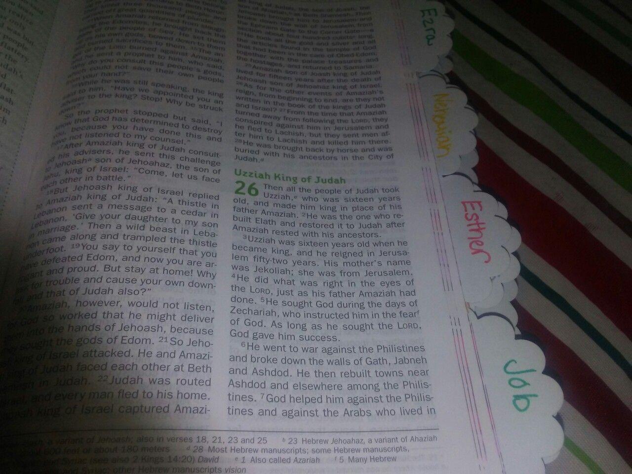 Home made bible tabs Made them myself  Christian Life