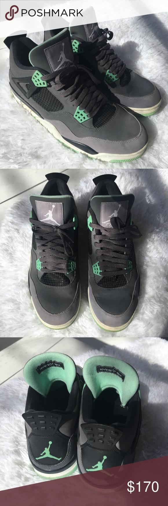 c7ebaf0109c4 Nike Air Jordan IV 4 Retro GREEN GLOW 308497 033 Nike Air Jordan IV 4 Retro
