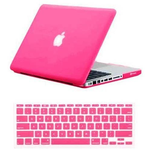 """SmackTom For New Apple Macbook Pro 13"""" Hot Pink Rubberized Matte Hard Case Cover"""