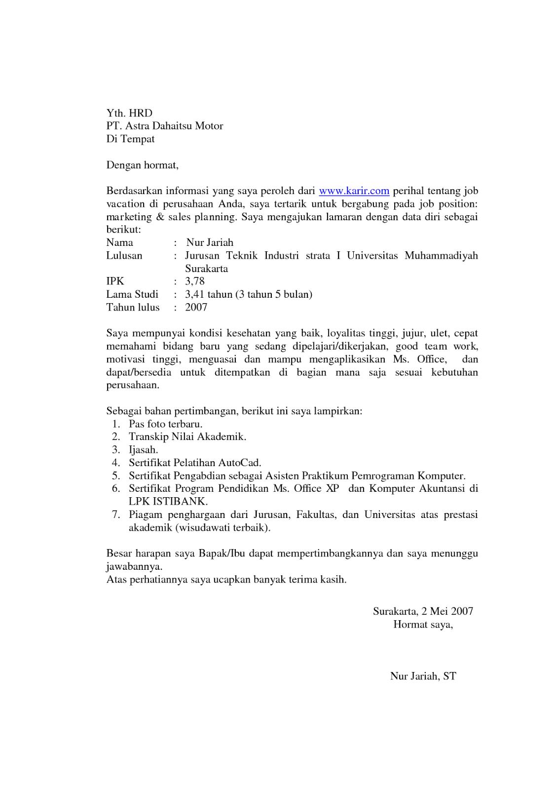 Contoh Surat Lamaran Kerja Fresh Graduate 1 Education Pendidikan