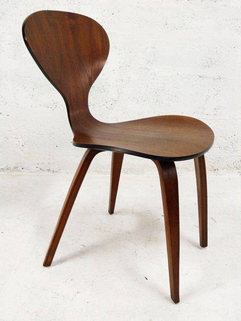 molded plywood dining chair retro norman cherner plycraft betnwood chair black 3