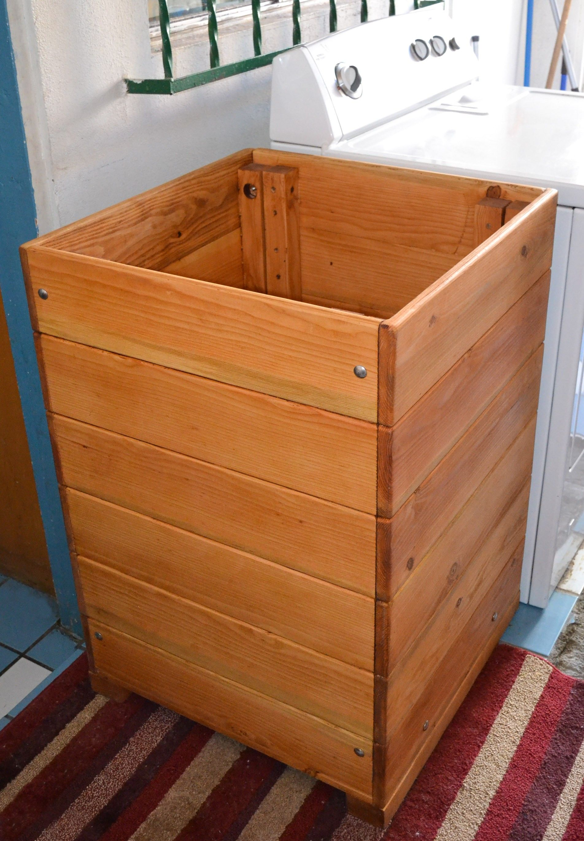 Rustic Wood Laundry Basket Hamper For Wooden Laundry