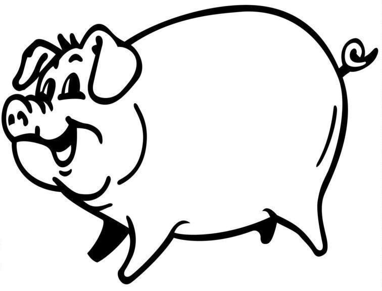 big Pig Coloring Pages for kids | Peppa pig coloring pages ...