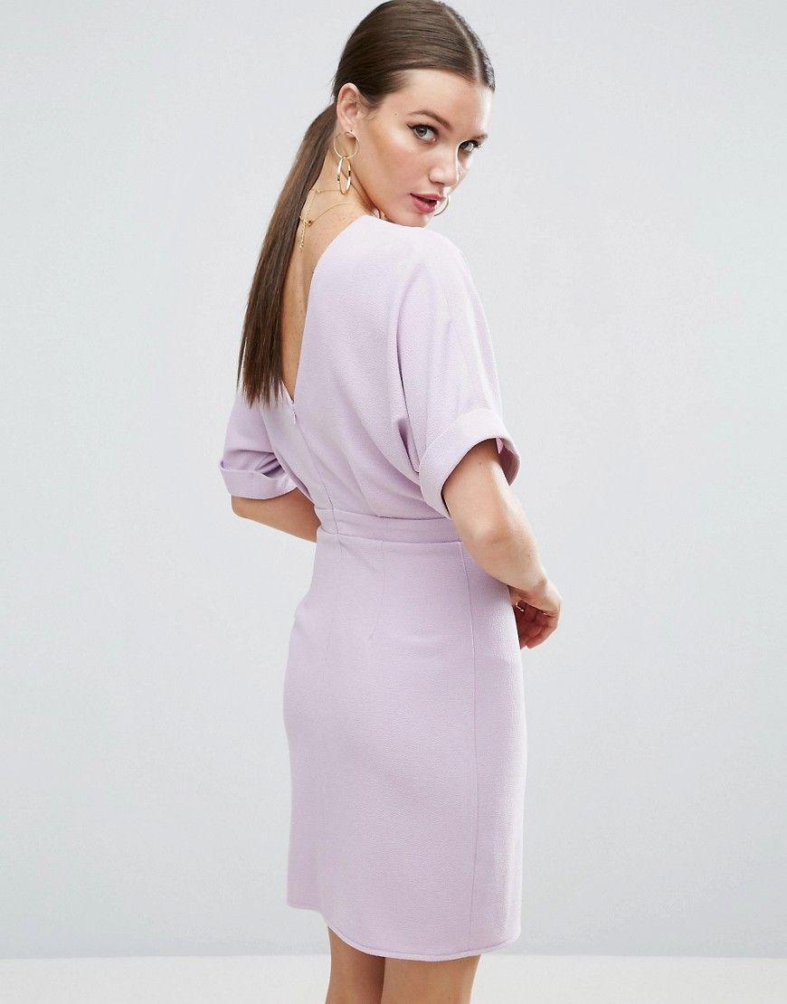 05339d2af38 ASOS Mini Wiggle Dress - Purple