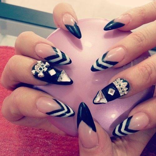 Stiletto Nail Designs Tumblr Nails Pinterest Manicure