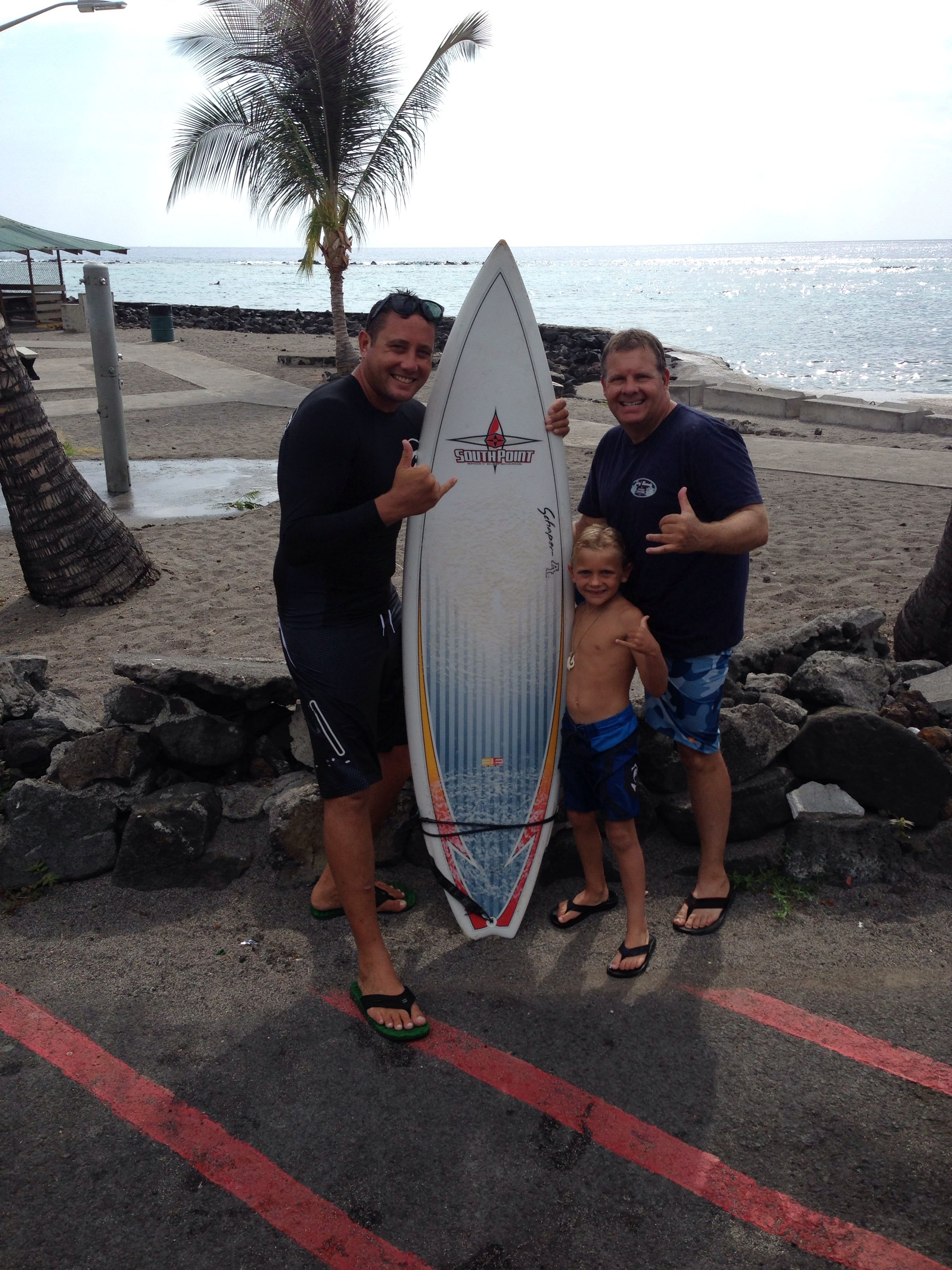 Kona surf company surf lessons in Kona! Learn from experienced local surfers. We gurantee u stand up! Call 808-217-5329 for reservations....